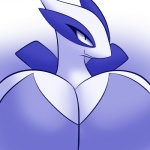 avian big_breasts blue_eyes breasts female huge_breasts icon latiar legendary_pokémon looking_at_viewer lugia nintendo pokémon simple_background smile solo video_games