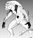 anime black_and_white bleach clothing comic espada feline gradient_background grimmjow_jaegerjaquez male mammal manga monochrome screentone solo treefyleaves   Rating: Safe  Score: 0  User: Misappropriated  Date: April 10, 2014