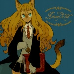 :< animal_humanoid anthro blue_background blue_eyes book brown_hair cat cat_humanoid clothed clothing feline female hair harry_potter hermione_granger hogwarts holding holding_book humanoid l_hakase long_hair mammal miniskirt necktie orange_hair paty school_uniform schoolgirl simple_background skirt solo standing wavy_hair young  Rating: Safe Score: 5 User: punkadoo616 Date: April 14, 2010