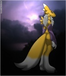 ambiguous_gender anthro canine cartoon cloud darkness digimon fox game_(disambiguation) mammal renamon solo storm thunder verona verona7881 yingyang  Rating: Safe Score: 5 User: Verona Date: July 25, 2015