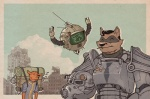 2011 ^_^ anthro canine drone ed-e exhausted eyes_closed fallout fox group helmet knight machine male mammal mechanical necktie pack post-apocalyptic power_armor raccoon redic-nomad robot rucksack ruins smile squire tired video_games  Rating: Safe Score: 12 User: Anomynous Date: May 30, 2011""
