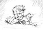 abs all_fours anal anal_penetration animal_genitalia anthro balls biceps canine canine_penis doggystyle duo erection fangs from_behind fur karulox knot male male/male mammal muscles nude orgasm pecs penetration penis sex sheath sketch teeth were werewolf wolf  Rating: Explicit Score: 6 User: furmann Date: March 05, 2013