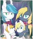 2014 band bat_pony blonde_hair cloud_skipper_(mlp) cub cutie_mark equestria-prevails equine family female feral fold friendship_is_magic green_eyes group hair looking_at_viewer male mammal my_little_pony order pacifier pegasus photo scarf smile teal_eyes wings young  Rating: Safe Score: 10 User: Somepony Date: October 06, 2014