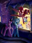 canterlot friendship_is_magic grin jumping mannequin my_little_pony night open_mouth pinkie_pie_(mlp) raised_hoof rarity_(mlp) sign skyeypony smile trixie_(mlp) twilight_sparkle_(mlp) walking  Rating: Safe Score: 0 User: MyNameIsMarty Date: October 05, 2015