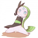 blue_eyes blush censored clothing dress female green_hair hair humanoid legendary_pokémon loli meloetta nintendo pokémon pussy simple_background smile solo video_games warumono_tomii white_background young  Rating: Explicit Score: 15 User: DeltaFlame Date: October 04, 2014