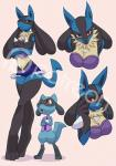 alanscampos breasts cleavage clothed clothing distracting_watermark duo female larger_female looking_at_viewer lucario nintendo patreon pokémon riolu size_difference skimpy video_games watermark  Rating: Questionable Score: 27 User: UnsocialLizard Date: February 05, 2016