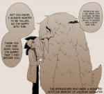 daughter duo english_text eyewear father glasses hairy human interspecies lab_coat mammal monster monster_girl not_furry parent sanzo scientist text translated tusks  Rating: Safe Score: 3 User: MidoriTranslates Date: November 01, 2015