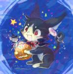 ambiguous_gender candy cat feline feral halloween holidays kemono lollipop magic_user mammal mouse open_mouth pumpkin red_eyes rodent マボ   Rating: Safe  Score: 1  User: KemonoLover96  Date: May 29, 2015