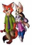 2016 anthro arminis barefoot canine carrying dialogue disney duo female fennec finnick food fox green_eyes group hand_in_pocket judy_hopps lagomorph male mammal nick_wilde pawpads popsicle purple_eyes rabbit simple_background smile zootopia  Rating: Safe Score: 1 User: Vallizo Date: April 30, 2016