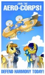2013 aircraft airship armor blue_eyes blue_hair brown_eyes brown_hair clothing cutie_mark digital_media_(artwork) english_text equine eyewear female feral friendship_is_magic glasses goggles hair hat horn male mammal multicolored_hair my_little_pony mysticalpha orange_hair pegasus pilot poster royal_guard_(mlp) skinsuit text two_tone_hair unicorn uniform wings wonderbolts_(mlp)  Rating: Safe Score: 4 User: 2DUK Date: March 13, 2013