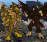 abs anthro avian balls barbs beak biceps bird blood brown_feathers carpo city claws destruction duo eagle eating erection feathers front gore gryphon macro male muscles nipples nude paws pecs penis pink_nipples pink_penis presenting rampage sewercroc sheath standing stomping talons teaselbone toe_claws tongue vore wings   Rating: Explicit  Score: 4  User: Corvidius  Date: August 11, 2013