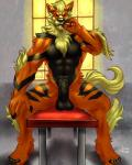2015 abs arcanine biceps black_penis cigar claws dwalker erection looking_at_viewer male muscles nintendo nude pecs penis pokémon precum smoking solo spread_legs spreading uncut vein video_games   Rating: Explicit  Score: 7  User: Vallizo  Date: March 27, 2015