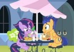 2015 alternate_hairstyle dm29 dragon eating equine female flash_sentry_(mlp) food friendship_is_magic glass group horn male mammal milk my_little_pony pancake parasol pegasus sitting spike_(mlp) strawberry twilight_sparkle_(mlp) waffle waffles winged_unicorn wings   Rating: Safe  Score: -1  User: 2DUK  Date: April 22, 2015