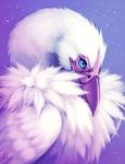 2012 ambiguous_gender avian beak bird blue_eyes digital_media_(artwork) falvie feathers feral purple_theme solo star unknown_species white_feathersRating: SafeScore: 11User: slyroonDate: July 30, 2012