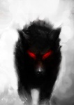 ambiguous_gender canine darkness feral glowing glowing_eyes mammal red_eyes solo tamer_karataş wolf