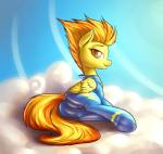 2014 equine female feral friendship_is_magic fshydale fur hair looking_at_viewer mammal my_little_pony orange_hair outside pegasus solo spitfire_(mlp) wings wonderbolts_(mlp) yellow_fur   Rating: Safe  Score: 19  User: lemongrab  Date: November 16, 2014