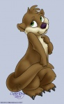 2011 ambiguous_gender curiodraco cute feral mammal mustelid nude otter solo