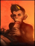 "2015 anthro ape chimpanzee duo female fur hair human interspecies looking_at_viewer mammal monkey neurodyne plain_background primate saliva sex sketch solo_focus sweat yello  Rating: Explicit Score: 3 User: xn0 Date: March 01, 2015"""