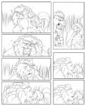 annoyed black_and_white breasts comic eye_patch eyewear fangs feline female grillo human interspecies kissing laugh league_of_legends lion love male mane monochrome necklace nervous nidalee nipples rengar roaring straight surprise   Rating: Questionable  Score: 7  User: Numeroth  Date: October 04, 2013
