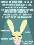 ambiguous_gender black_eyes buckteeth collar crying english_text lagomorph mammal rabbit shane_frost tears teeth text  Rating: Safe Score: 1 User: shanefrost Date: October 09, 2015