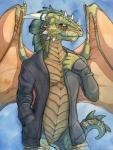 argonian bottomless clothed clothing dragon half-dressed hybrid looking_at_viewer ruaidri scalie smile solo the_elder_scrolls video_games wings  Rating: Questionable Score: 13 User: Beaktooth Date: July 23, 2015