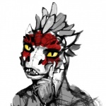2014 anthro argonian feathers horn lizard male portrait reptile sairaks scalie scritt solo the_elder_scrolls the_elder_scrolls_v:_skyrim video_games   Rating: Safe  Score: 11  User: Cyrax  Date: November 17, 2014