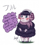 <3 animal_crossing anthro blush caprine female horn lacgl mammal muffy_(animal_crossing) nintendo scarf sheep solo video_games  Rating: Safe Score: 3 User: Untamed Date: August 12, 2013