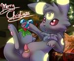 animal_genitalia anthro b-ern balls blush christmas cute eeveelution feral holidays holly_(plant) male nintendo open_mouth penis plant pokémon solo tongue umbreon video_games   Rating: Explicit  Score: 13  User: Sneaky  Date: April 09, 2015