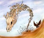 animated_skeleton avian beak bird bone desert duo feathers feral horn mandibuzz nintendo open_mouth outside pokémon professionalvillain sand skeleton skull sky teeth undead video_games vultureRating: SafeScore: 7User: Rad_DudesmanDate: May 10, 2016