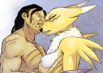 angry anthro areola arm_warmers bandai breast_grab breasts canine chest_tuft clenched_teeth digimon duo fangs female fox fur growl hattonslayden human male male/female mammal mane markings nipples renamon scar side_boob teeth tuft white_fur yellow_fur yellow_skin   Rating: Questionable  Score: 7  User: kuramakitsune  Date: August 16, 2014