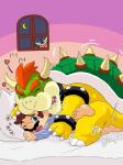 <3 amphibian anal anthro bed big_dom_small_sub blush bowser crossover duo frog from_behind_position greninja hi_res human human_on_anthro interspecies japanese_text kakaron koopa larger_male male male/male mammal mario mario_bros night nintendo pokémon scalie sex size_difference slightly_chubby smaller_male steam super_smash_bros sweat tears text video_games voyeur  Rating: Explicit Score: 4 User: slyroon Date: December 30, 2015