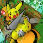 ambiguous_gender beedrill female feral nintendo penetration pikachu pokémon pokémon_(species) pussy sex spread_legs spreading unknown_artist vaginal vaginal_penetration video_games