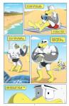 anthro anti_dev avian ayden_(brogulls) back bailey_(brogulls) beach bird brothers bulge clothed clothing comic digital_media_(artwork) duo_focus feathers group half-dressed male muscular nipples outside pecs reading seagull seaside sibling topless volleyball  Rating: Safe Score: 3 User: slyroon Date: November 22, 2015