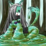 anthro canine clothing collar concon-collector crying day detailed_background female forest fox goo hair hair_over_eye hi_res long_hair mammal official_art outside shimesaba sky solo tears tree  Rating: Questionable Score: 3 User: Jackalfag Date: April 10, 2016