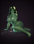 black_hair breasts cum dickgirl green_skin hair humanoid_penis intersex marvel muscular muscular_intersex nude penis retracted_foreskin she-hulk solo tridark uncut  Rating: Explicit Score: 7 User: FwP Date: October 11, 2013