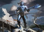 axe belt bridge bulge frost_titan giant horn magic_the_gathering male mike_bierek mountain official_art outside snow solo titan tree weapon wizards_of_the_coast wood   Rating: Safe  Score: 1  User: Shardshatter  Date: August 10, 2013