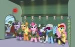 applejack_(mlp) clothed clothing cutie_mark derpy_hooves_(mlp) earth_pony equine female feral fluttershy_(mlp) friendship_is_magic fur group gun horn horse mammal my_little_pony nyerpy pegasus pink_fur pinkie_pie_(mlp) pony rainbow_dash_(mlp) ranged_weapon rarity_(mlp) twilight_sparkle_(mlp) unicorn weapon wings  Rating: Safe Score: 7 User: Princess_Celestia Date: June 06, 2011