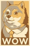 ambiguous_gender black_eyes black_nose canine clothing dog doge english_text fur looking_at_viewer mammal meme necktie shiba_inu shirt solo suit tan_fur text uguubearscafe