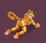 2014 anthro ball_gag bdsm bulge butt cat feline fur gag hindpaw knee_pads lock male mammal orange_fur pawpads paws petplay roleplay rubber simple_background solo turbinedivinity  Rating: Questionable Score: 9 User: meowmcmeow Date: November 16, 2015