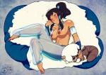 areola armband avatar:_the_last_airbender barefoot big_breasts black_hair blink blush breasts choker clothing dark_skin feet female hair korra my_pet_tentacle_monster navel nipples pants plushie ponytail sitting solo the_legend_of_korra translucent wristband  Rating: Questionable Score: 4 User: my_bad_english Date: September 01, 2015