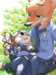 2016 anthro buckteeth canine cute disney duo female fox fur grey_fur judy_hopps lagomorph long_ears male mammal nick_wilde orange_fur rabbit size_difference teeth zootopia ぶっち  Rating: Safe Score: 10 User: Vallizo Date: May 06, 2016