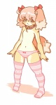 black_eyes brown_fur canine clothed clothing cub dog female flat_chested fur hair half-dressed kemono legwear loli mammal panties pink_hair solo stockings underwear young きん   Rating: Questionable  Score: 2  User: KemonoLover96  Date: May 12, 2015