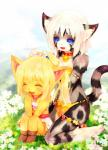 affection bell bikini blonde_hair blue_sky blush cat checa collar cub daisies daughter feline flower giggle hair karin laugh mammal meadow necklace ponytail ribbons skirt swimsuit tetetor-oort young   Rating: Safe  Score: 3  User: DSR1337  Date: April 23, 2014