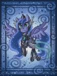 2013 armor blue_eyes blue_fur blue_hair blue_skin clothed clothing crown cute digital_media_(artwork) dress equine female feral friendship_is_magic fur hair hi_res horn horse long_hair mammal my_little_pony pony princess_luna_(mlp) raptor007 smile solo winged_unicorn wings   Rating: Safe  Score: 2  User: GameManiac  Date: March 24, 2015