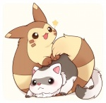 cute duo ferret fluffy furret huiro looking_at_viewer mammal mustelid nintendo pokémon smile video_games  Rating: Safe Score: 4 User: Neitsuke Date: April 21, 2015