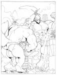 anthro avian bulge canine clothing comic falco_lombardi fox fox_mccloud macro male mammal monochrome muscular nintendo rabid speedo star_fox swimsuit video_games  Rating: Explicit Score: 1 User: togepi1125 Date: December 04, 2013