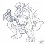 anthro balls bowser canine clothing erection fox fox_mccloud huge_penis imminent_rape male male/male mammal mario_bros monochrome nintendo nude open_mouth penis plain_background reptile scalie shell spikes star_fox teeth uncut video_games wolfblade   Rating: Explicit  Score: 17  User: pikol  Date: November 16, 2014