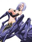 arachne arachnid arthropod big_breasts bikini breast_squish breasts cleavage clothed clothing drider elbow_gloves female gloves hair hi_res huge_breasts monster monster_girl monster_musume multi_limb multiple_eyes pose purple_hair rachnera_arachnera_(monster_musume) red_eyes red_sclera simple_background smile solo swimsuit tikuisi  Rating: Safe Score: 6 User: nobody117 Date: January 22, 2016