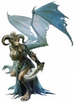 bat_wings breasts chaotic_evil clothing dagger demon dress dungeons_&_dragons erylium eva_widermann female gown horn melee_weapon membranous_wings pathfinder quasit scales solo tanar'ri tiny weapon wings  Rating: Safe Score: 8 User: SwiftNimblefoot Date: March 29, 2016