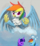 2014 avian beak blue_fur cloud duo equine female feral friendship_is_magic fur gryphon hair horn mammal multicolored_hair my_little_pony pegasus purple_eyes purple_fur purple_hair raikoh-illust rainbow_dash_(mlp) rainbow_hair smile thought_bubble twilight_sparkle_(mlp) unicorn white_fur wings  Rating: Safe Score: 15 User: 2DUK Date: March 01, 2014